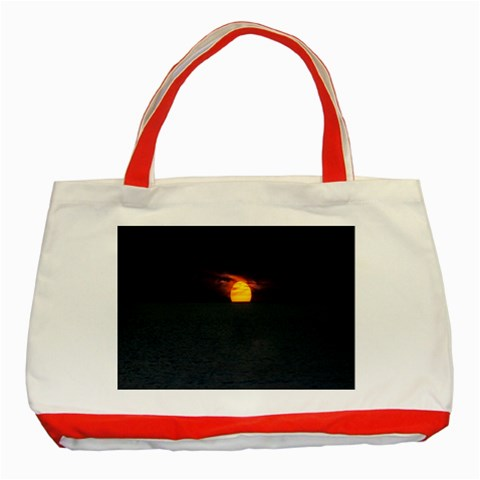 Sunset Ocean Azores Portugal Sol Classic Tote Bag (Red)