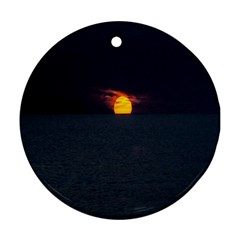 Sunset Ocean Azores Portugal Sol Round Ornament (Two Sides)