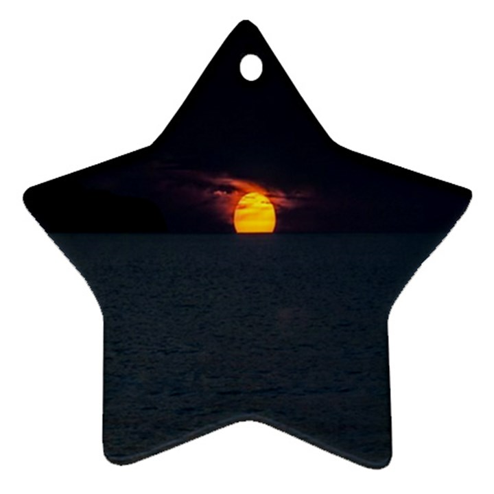 Sunset Ocean Azores Portugal Sol Star Ornament (Two Sides)