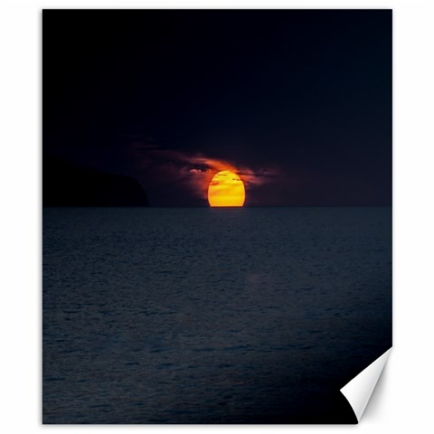Sunset Ocean Azores Portugal Sol Canvas 8  x 10