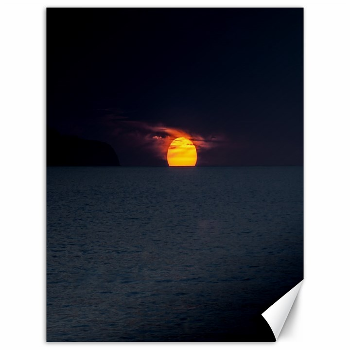 Sunset Ocean Azores Portugal Sol Canvas 12  x 16