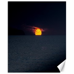 Sunset Ocean Azores Portugal Sol Canvas 16  x 20