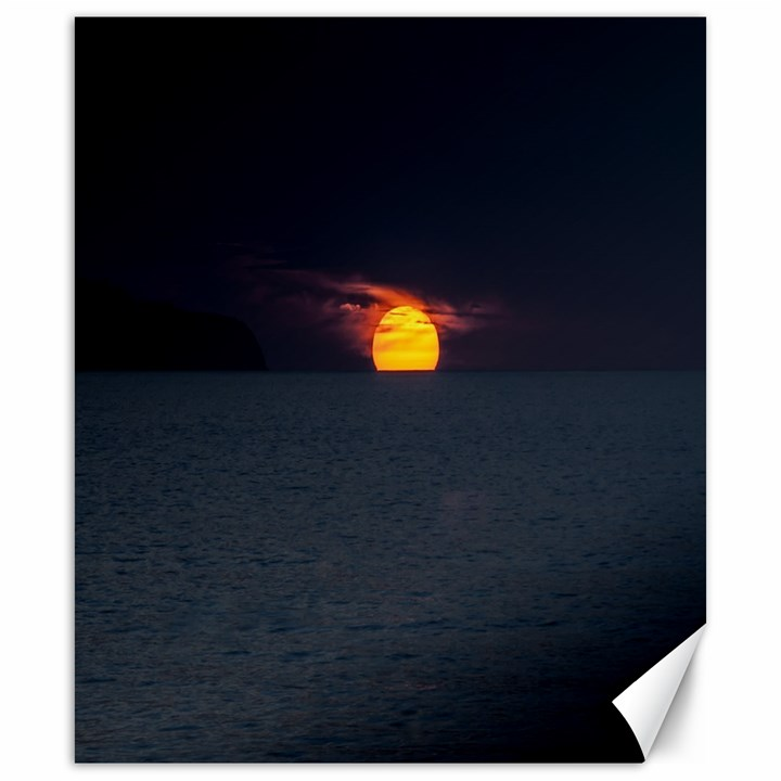Sunset Ocean Azores Portugal Sol Canvas 20  x 24