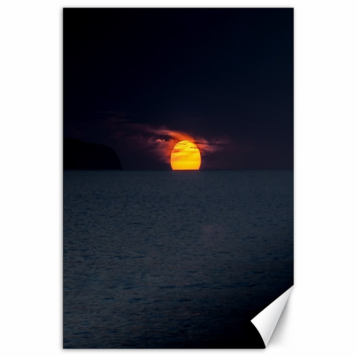 Sunset Ocean Azores Portugal Sol Canvas 20  x 30