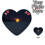 Sunset Ocean Azores Portugal Sol Playing Cards 54 (Heart)  Front - Heart2