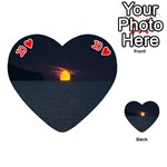 Sunset Ocean Azores Portugal Sol Playing Cards 54 (Heart)  Front - Heart10