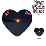 Sunset Ocean Azores Portugal Sol Playing Cards 54 (Heart)  Front - HeartQ