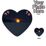 Sunset Ocean Azores Portugal Sol Playing Cards 54 (Heart)  Front - Diamond7