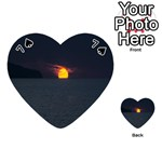 Sunset Ocean Azores Portugal Sol Playing Cards 54 (Heart)  Front - Spade7