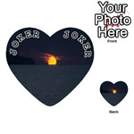 Sunset Ocean Azores Portugal Sol Playing Cards 54 (Heart)  Front - Joker1