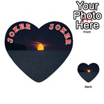 Sunset Ocean Azores Portugal Sol Playing Cards 54 (Heart)  Front - Joker2