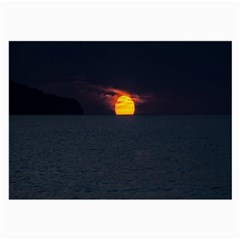 Sunset Ocean Azores Portugal Sol Large Glasses Cloth (2-Side)