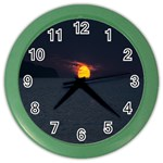 Sunset Ocean Azores Portugal Sol Color Wall Clocks Front