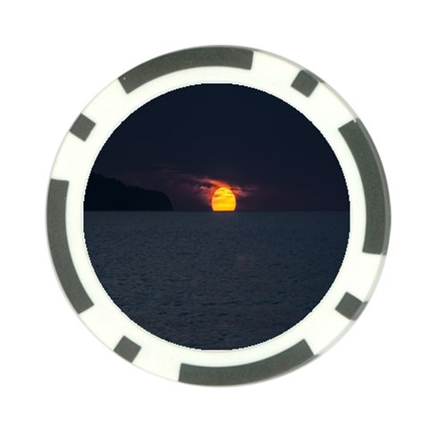 Sunset Ocean Azores Portugal Sol Poker Chip Card Guards