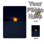 Sunset Ocean Azores Portugal Sol Multi-purpose Cards (Rectangle)  Back 40