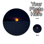 Sunset Ocean Azores Portugal Sol Multi-purpose Cards (Round)  Front 10