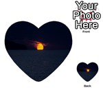 Sunset Ocean Azores Portugal Sol Multi-purpose Cards (Heart)  Back 36