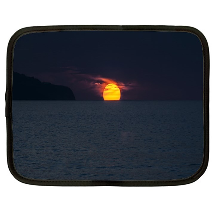 Sunset Ocean Azores Portugal Sol Netbook Case (Large)