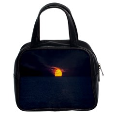 Sunset Ocean Azores Portugal Sol Classic Handbags (2 Sides)