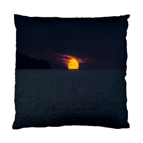 Sunset Ocean Azores Portugal Sol Standard Cushion Case (Two Sides)