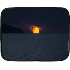 Sunset Ocean Azores Portugal Sol Double Sided Fleece Blanket (Mini)