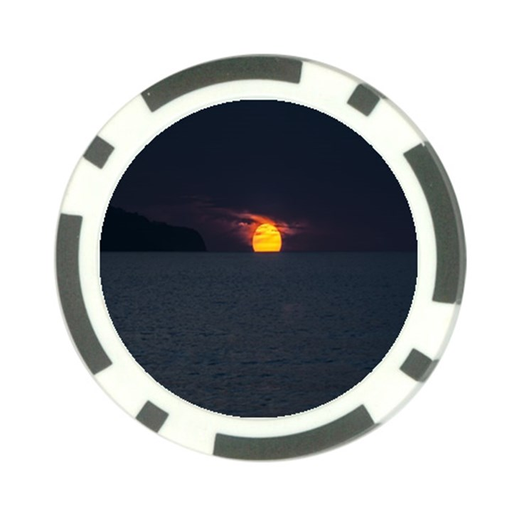 Sunset Ocean Azores Portugal Sol Poker Chip Card Guards (10 pack)