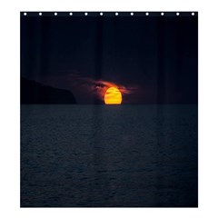 Sunset Ocean Azores Portugal Sol Shower Curtain 66  x 72  (Large)