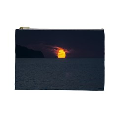 Sunset Ocean Azores Portugal Sol Cosmetic Bag (Large)