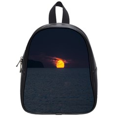 Sunset Ocean Azores Portugal Sol School Bags (Small)