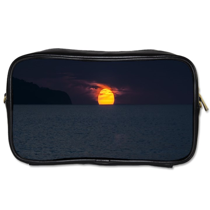 Sunset Ocean Azores Portugal Sol Toiletries Bags 2-Side