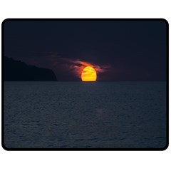 Sunset Ocean Azores Portugal Sol Fleece Blanket (Medium)