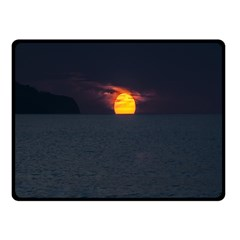 Sunset Ocean Azores Portugal Sol Fleece Blanket (Small)