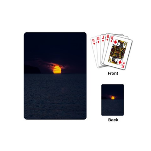 Sunset Ocean Azores Portugal Sol Playing Cards (Mini)