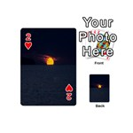 Sunset Ocean Azores Portugal Sol Playing Cards 54 (Mini)  Front - Heart2