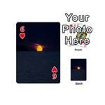 Sunset Ocean Azores Portugal Sol Playing Cards 54 (Mini)  Front - Heart6