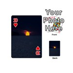 Sunset Ocean Azores Portugal Sol Playing Cards 54 (Mini)  Front - Heart10