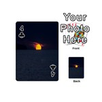 Sunset Ocean Azores Portugal Sol Playing Cards 54 (Mini)  Front - Club4