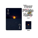 Sunset Ocean Azores Portugal Sol Playing Cards 54 (Mini)  Front - Spade7