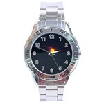 Sunset Ocean Azores Portugal Sol Stainless Steel Analogue Watch Front