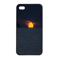 Sunset Ocean Azores Portugal Sol Apple iPhone 4/4s Seamless Case (Black)