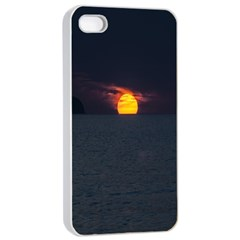 Sunset Ocean Azores Portugal Sol Apple iPhone 4/4s Seamless Case (White)