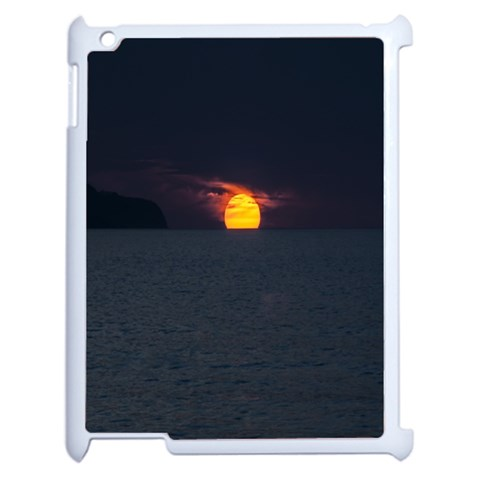 Sunset Ocean Azores Portugal Sol Apple iPad 2 Case (White)