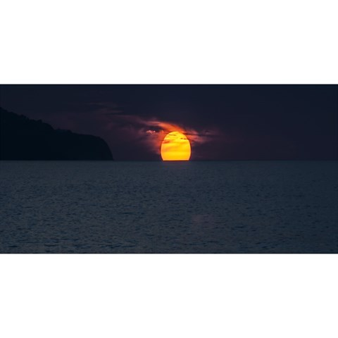 Sunset Ocean Azores Portugal Sol YOU ARE INVITED 3D Greeting Card (8x4)