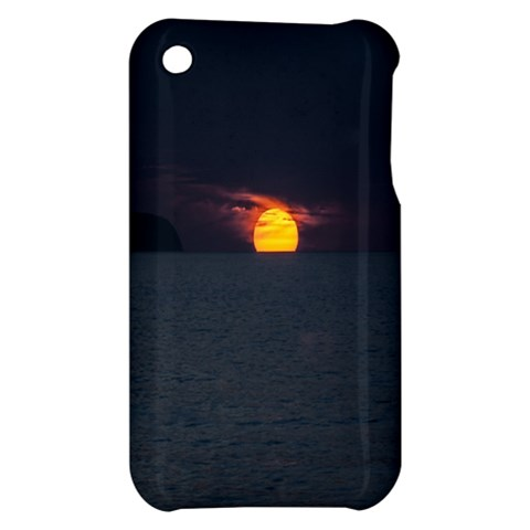 Sunset Ocean Azores Portugal Sol Apple iPhone 3G/3GS Hardshell Case