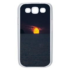 Sunset Ocean Azores Portugal Sol Samsung Galaxy S III Case (White)