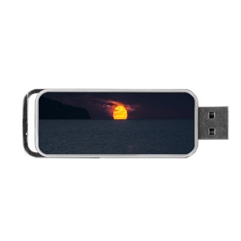 Sunset Ocean Azores Portugal Sol Portable USB Flash (One Side)