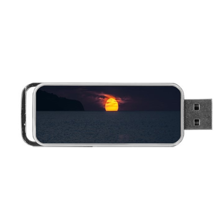 Sunset Ocean Azores Portugal Sol Portable USB Flash (Two Sides)
