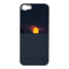 Sunset Ocean Azores Portugal Sol Apple iPhone 5 Case (Silver)