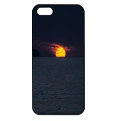 Sunset Ocean Azores Portugal Sol Apple iPhone 5 Seamless Case (Black)