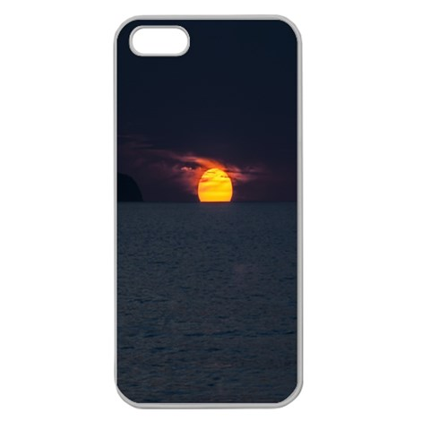 Sunset Ocean Azores Portugal Sol Apple Seamless iPhone 5 Case (Clear)